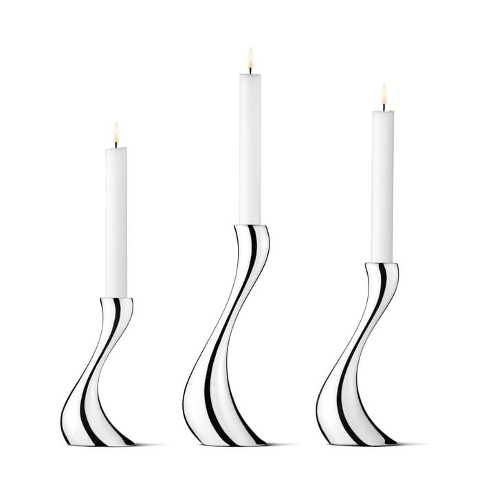 Georg Jensen - Cobra Kerzenleuchter, 3er-Set