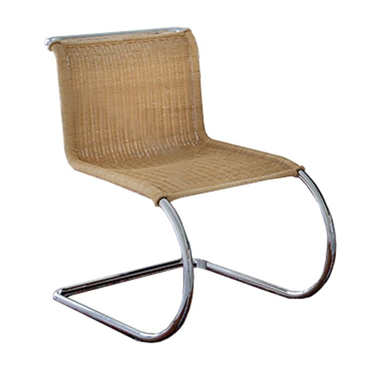 Knoll - MR Beistellstuhl ohne Armlehnen, Rattan