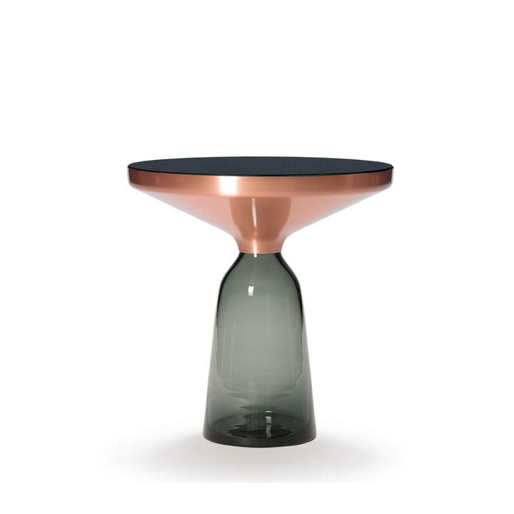 Bell Beistelltisch von ClassiCon in Kupfer / Quarz-Grau