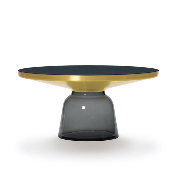 Bell Couchtisch von ClassiCon in Messing / Quarz-Grau