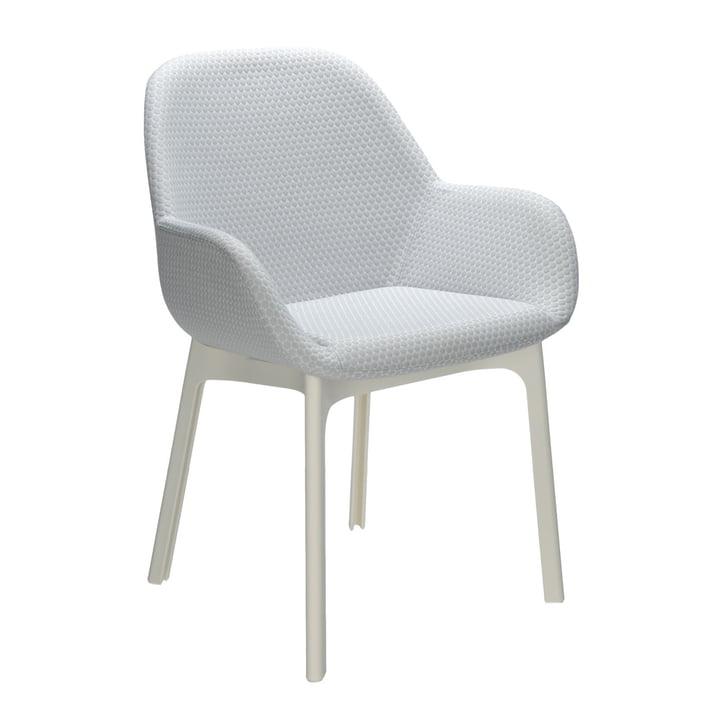 Kartell - Clap Stuhl, weiß / grau