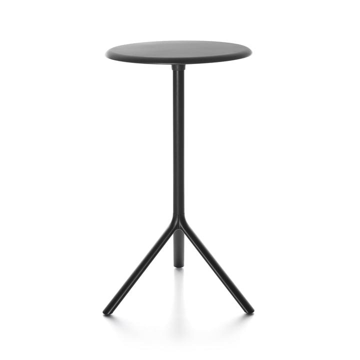 Plank - Miura Tisch, Höhe 109 cm, Metallplatte, schwarz
