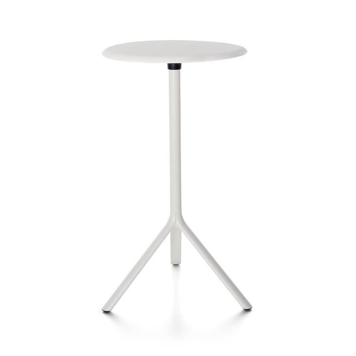 Plank - Miura Tisch, Höhe 109 cm, Metallplatte, weiß