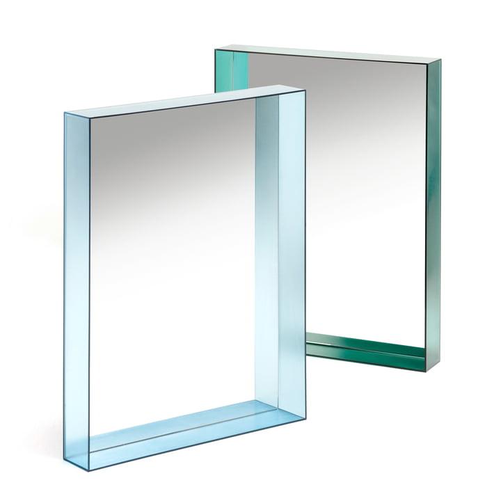 Kartell - Only Me Spiegel, 50 x 70 cm, blau, grün