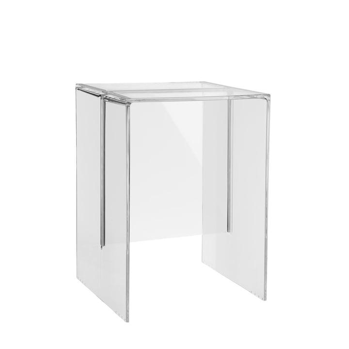 Kartell - Max-Beam Hocker / Beistelltisch, transparent-glasklar
