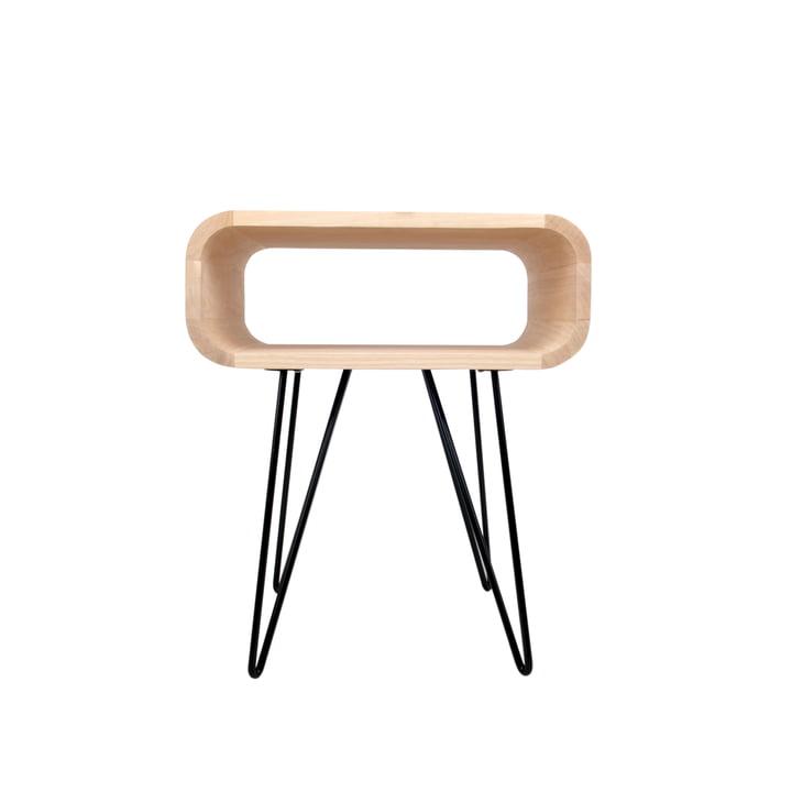 End Table, Holz / schwarz von XLBoom
