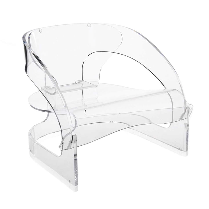Kartell - Joe Colombo Sessel, transparent - schräg