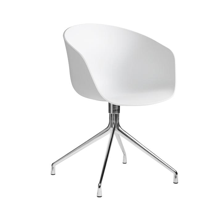 About A Chair AAC 20 von Hay in Aluminium poliert / Weiß