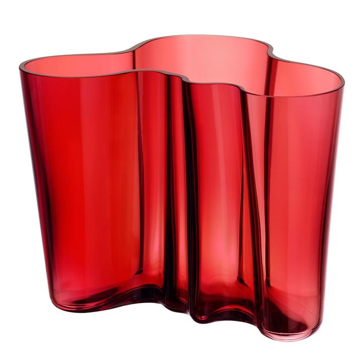 Aalto Vase Savoy 160 m von Iittala in Cranberry Rot