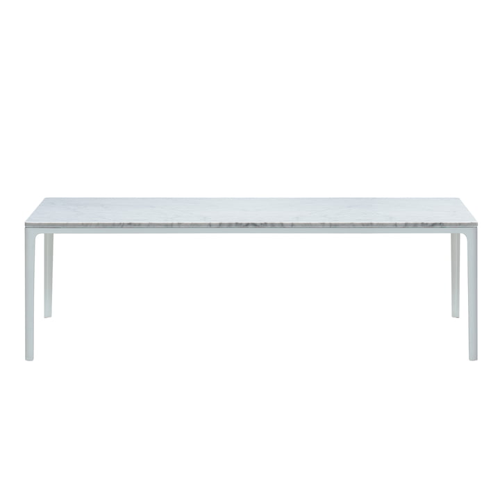 Plate Table 370 x 1200 x 400 mm Carrara Marmor von Vitra