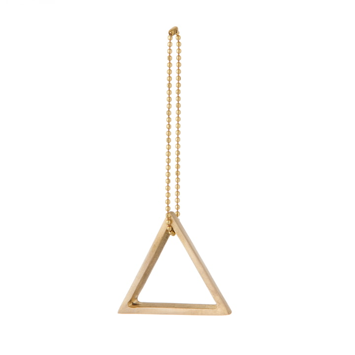 ferm Living - Messing-Ornament, Dreieck
