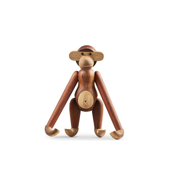 Holz-Affe klein von Kay Bojesen in Limbaholz / Teakholz