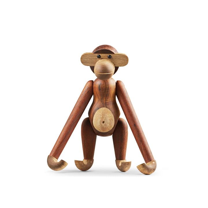Holz-Affe medium von Kay Bojesen in Limbaholz / Teakholz