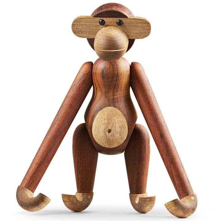 Holz-Affe groß von Kay Bojesen in Limbaholz / Teakholz