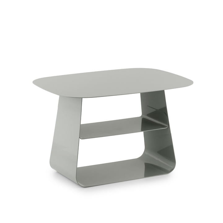 Stay Table 40 x 52 cm von Normann Copenhagen in Steingrau
