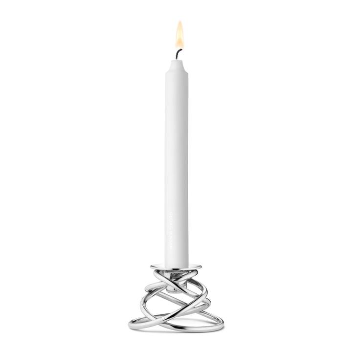 Glow Kerzenständer mit Kerze von Georg Jensen
