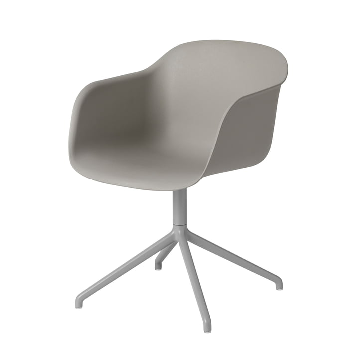 Fiber Chair Swivel Base von Muuto in grau