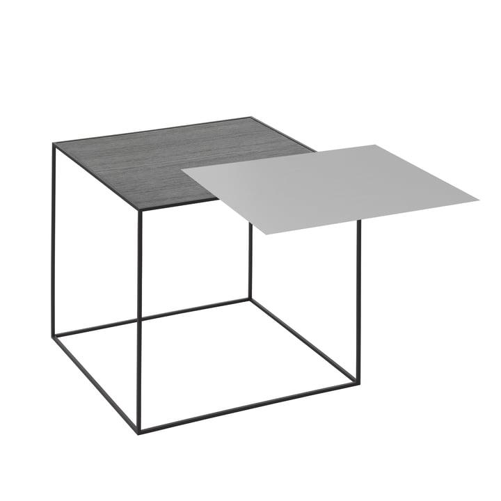 Twin 42 Beistelltisch schwarzer Rahmen von by Lassen in Esche schwarz gebeizt / cool grey