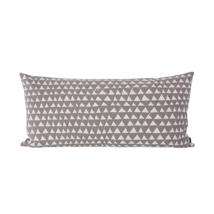 ferm Living - Mountain Kissen 80 x 40 cm, warm grey / white