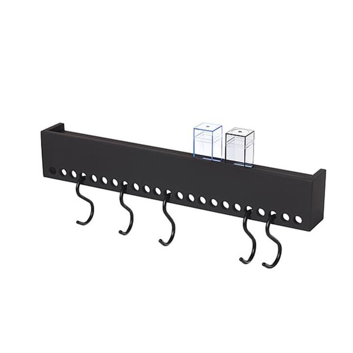 So-Hooked Wandgarderobe 60 cm von Nomess in schwarz