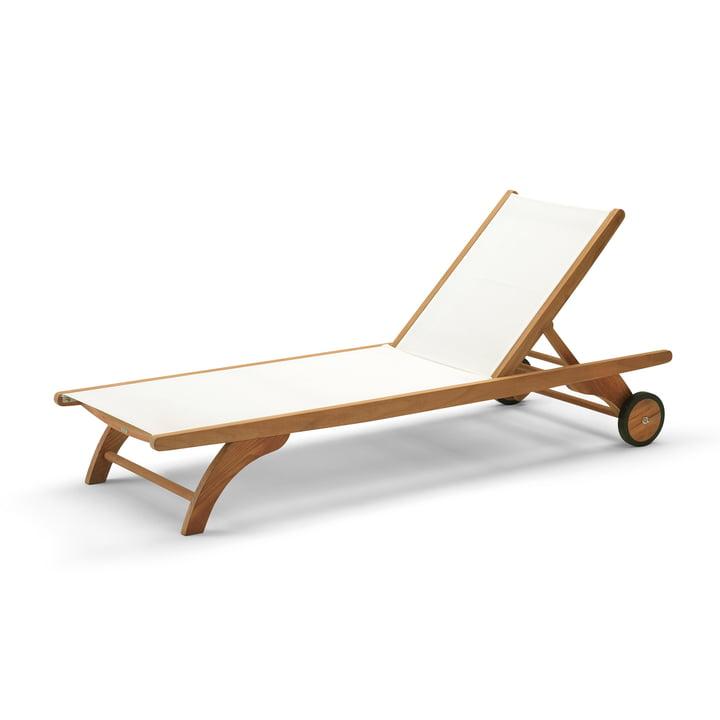 Skagerak - Columbus Sun Bed, teak / weiß