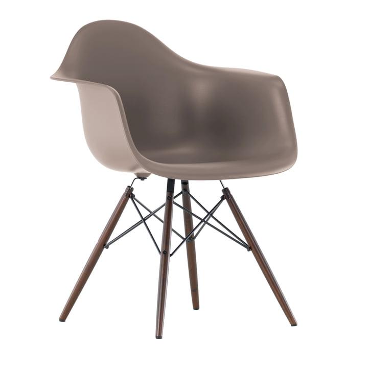 Vitra - Eames Plastic Armchair DAW, Ahorn dunkel / mauve grau