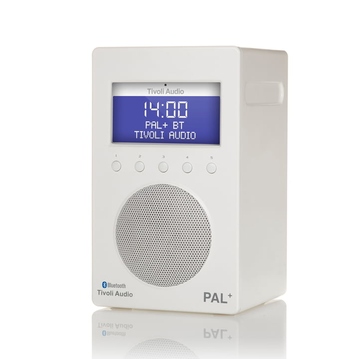 Tivoli Audio - Pal+ BT inkl. Fernbedienung, glänzend weiß / weiß
