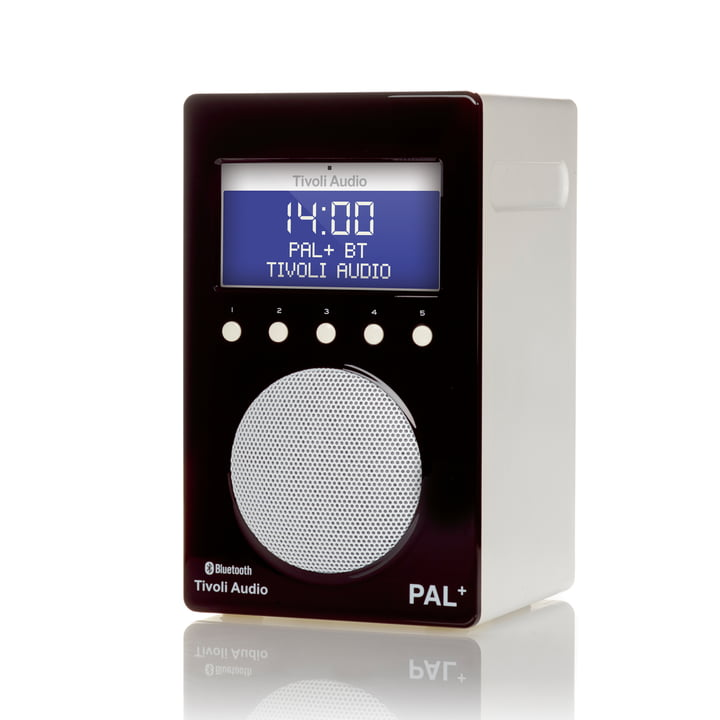 Tivoli Audio - Pal+ BT, glänzend schwarz / weiß