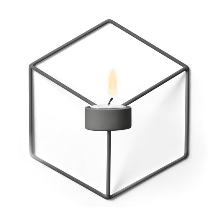 Menu - POV Wand-Teelichthalter, warm grey