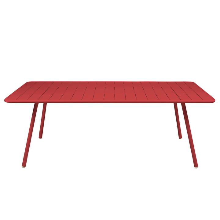 Luxembourg Tisch 100 x 207 von Fermob in Mohnrot