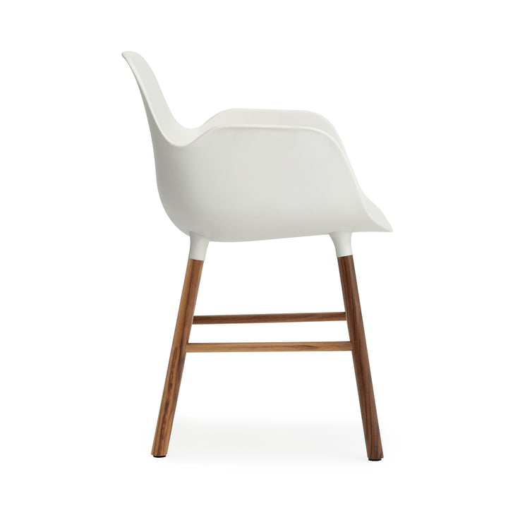 Form Armchair von Normann Copenhagen aus Wallnuss in Weiß