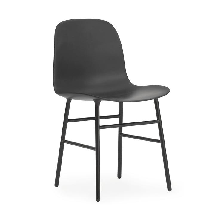 Form Stuhl Gestell Stahl von Normann Copenhagen in Schwarz