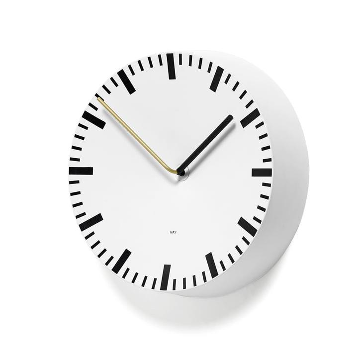 Analog Uhr von Hay in weiß