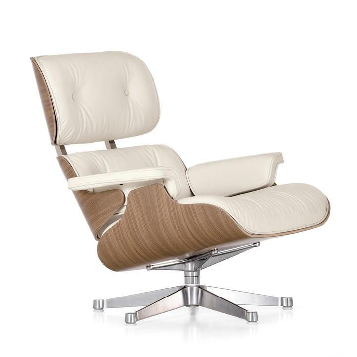 Vitra - Lounge Chair, weiß / poliert, Nussbaum (klassisch)