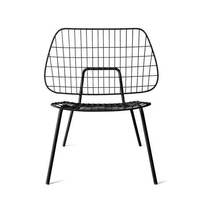 WM String Lounge Chair von Menu in Schwarz