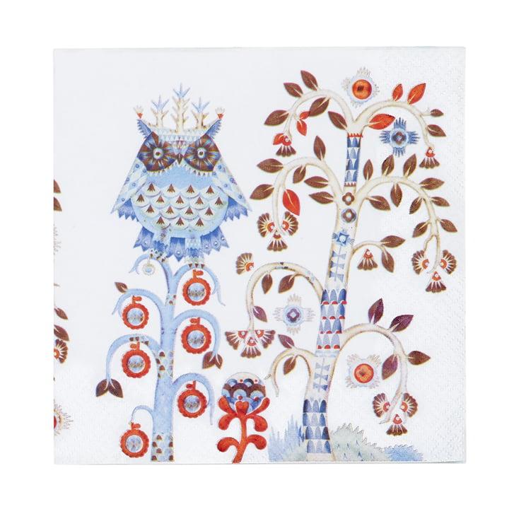 Taika Serviette 33 x 33 cm von Iittala in Weiß