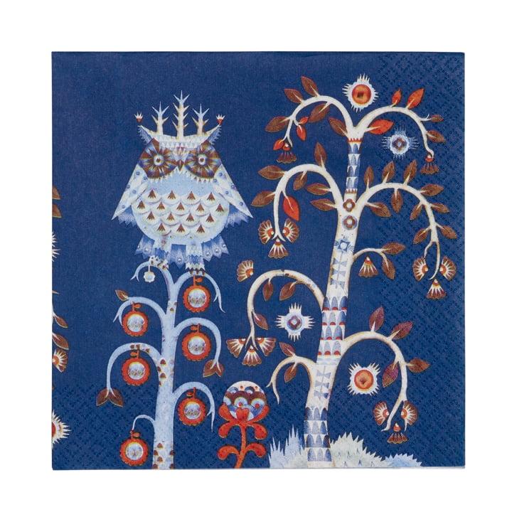 Taika Serviette 33 x 33 cm von Iittala in Blau