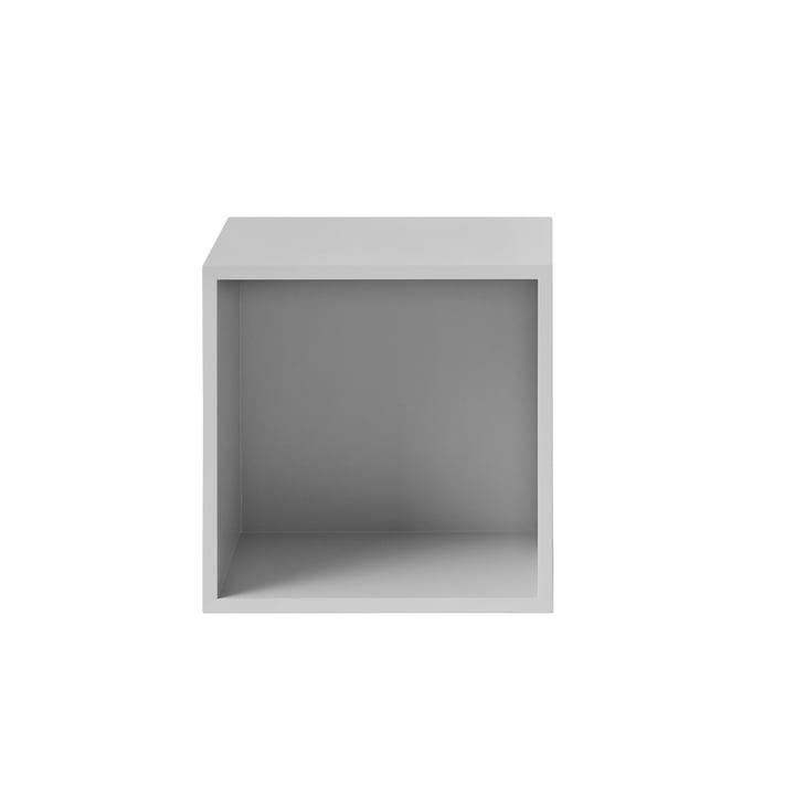 Das Muuto - Stacked Regalmodul mit Rückwand, medium, hellgrau