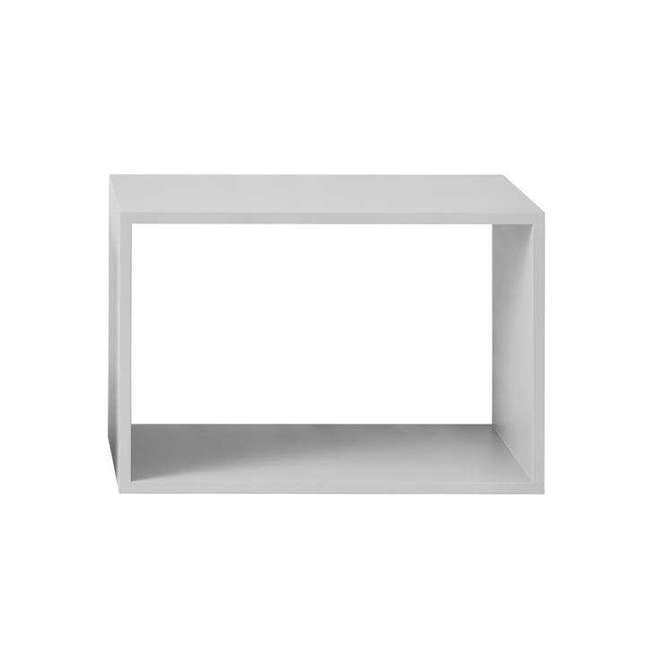 Muuto - Stacked Regalmodul ohne Rückwand, groß, hellgrau