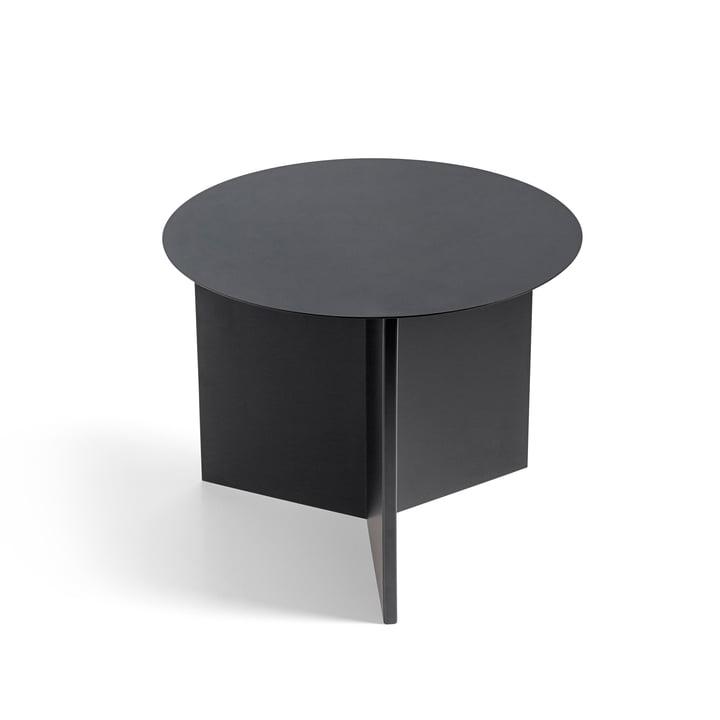 Slit Table Round von Hay in Schwarz