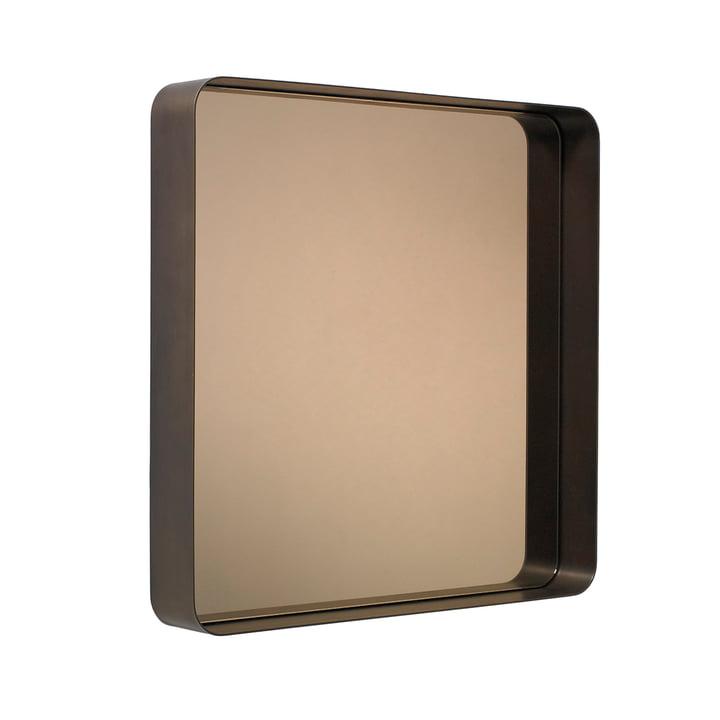 Classicon - Cypris Spiegel 70x70, Messing brüniert / Parsolglas