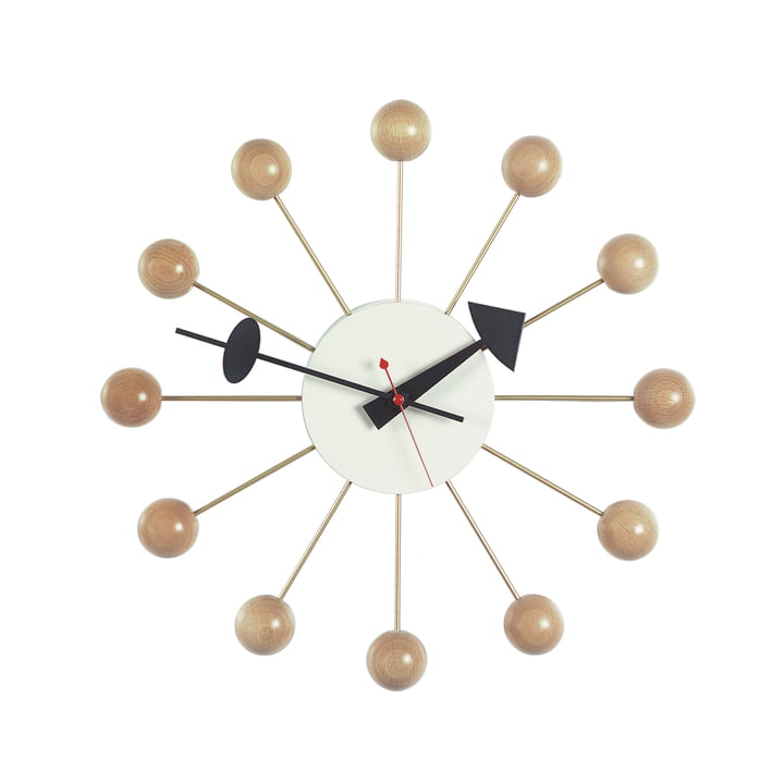 Ball Clock von Vitra in Buche natur
