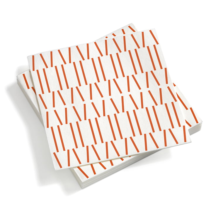 Paper Napkins large Broken Lines red orange 40 x 40 von Vitra