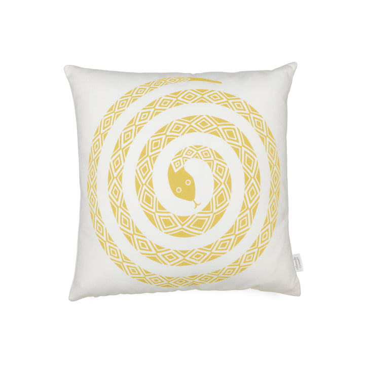 Vitra - Graphic Print Pillow - Snake 40 x 40 cm, Senf