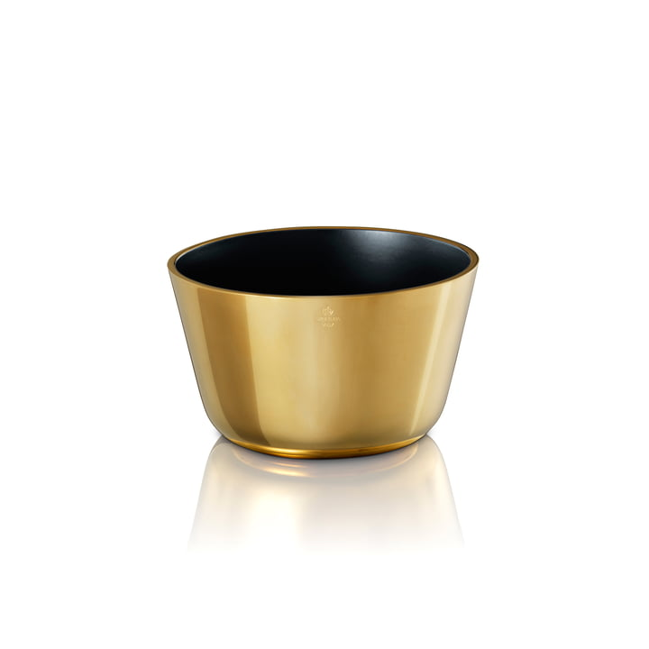 Skultuna - Schale klein, schwarz / Messing poliert