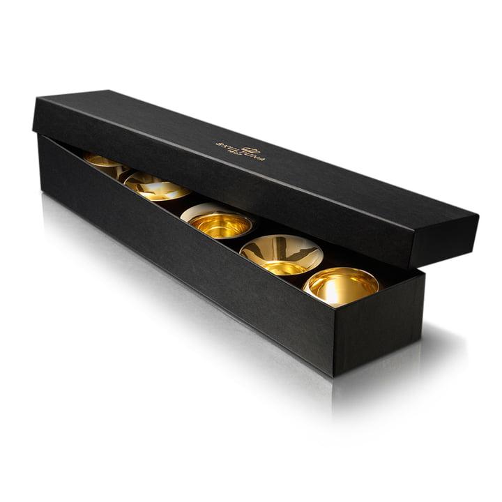 Skultuna - Kin Kerzenhalter (5er-Set), messing, Geschenkbox
