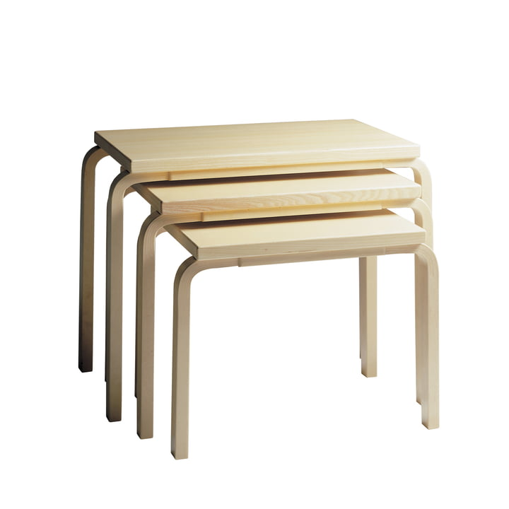Artek - 88 Nesting Tables, Birkenfurnier (3er-Set)