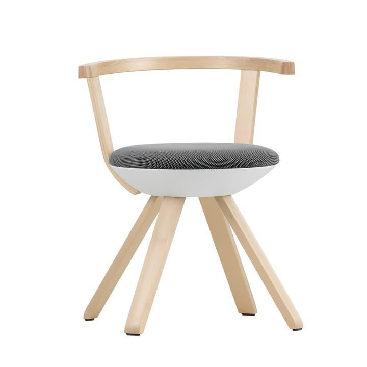 Artek - KG 001 Rival Stuhl niedrig Birke, weiß, schwarz / weiß