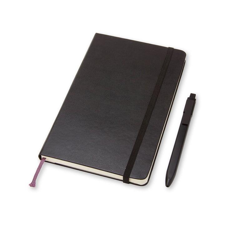 Moleskine - Set mit Notizbuch und Stift, Large, schwarz