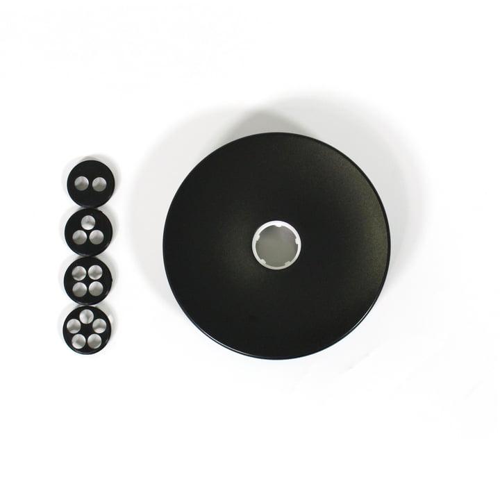 Flos - Mehrfach-Baldachin für Aim und Aim Small Pendelleuchten, schwarz